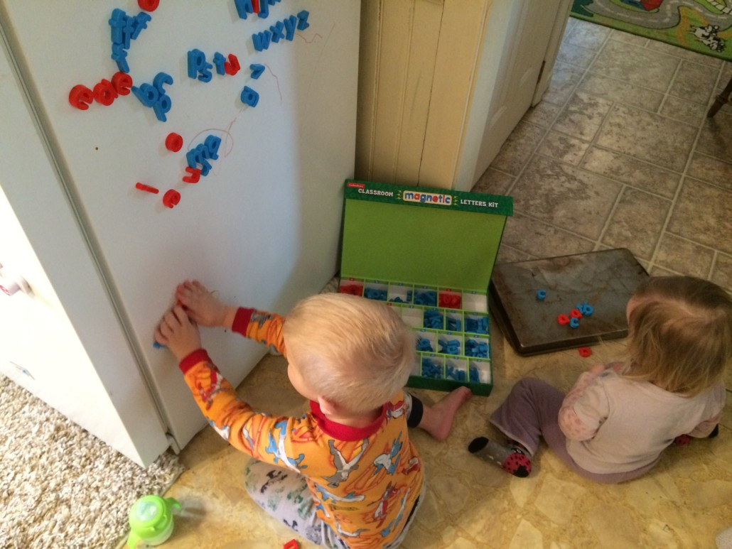 Elliot and Ophelia Play with the Lakeshore Learning Magnetic Letters