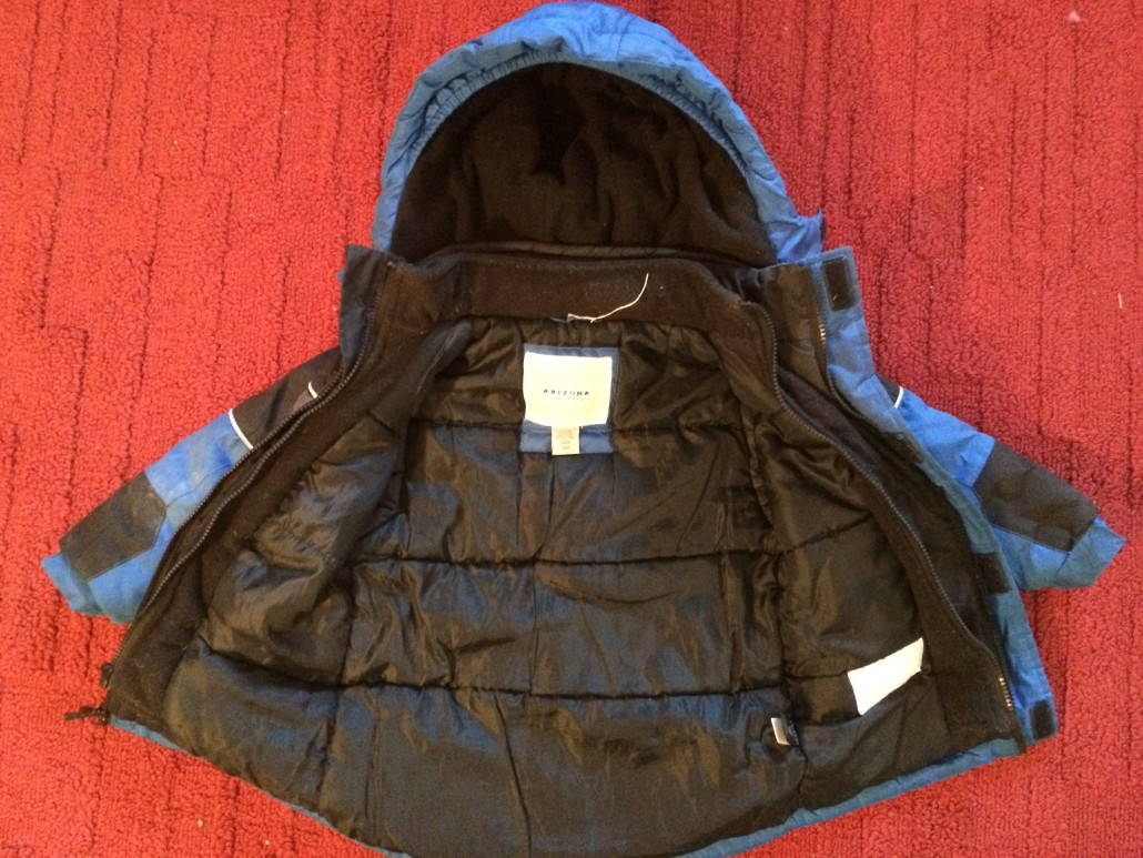 child's coat open