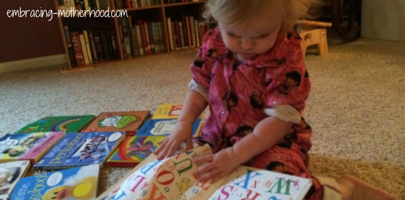 Ophelia Reading an ABC Book