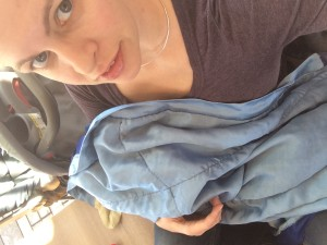 Nursing Julian Wrapped in Silky Blanket