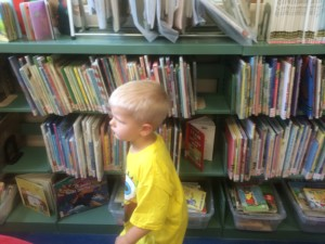 Elliot is Busy Searching for Books