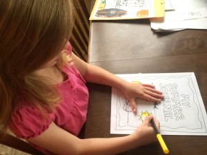 Ruby Coloring Her 1st Grade Writing Packet