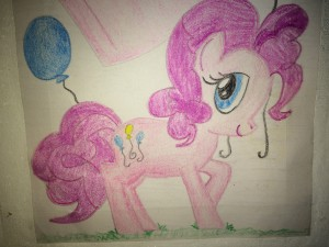 A Drawing of Pinkie Pie from My Little Pony