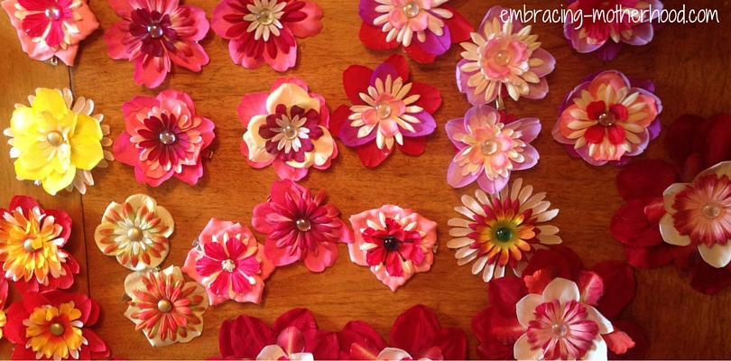 How to make flower hair clips embracing motherhood how to make flower hair clips mightylinksfo