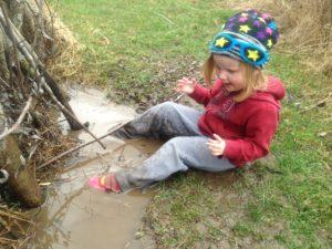 Ophelia Having Fun in the Water