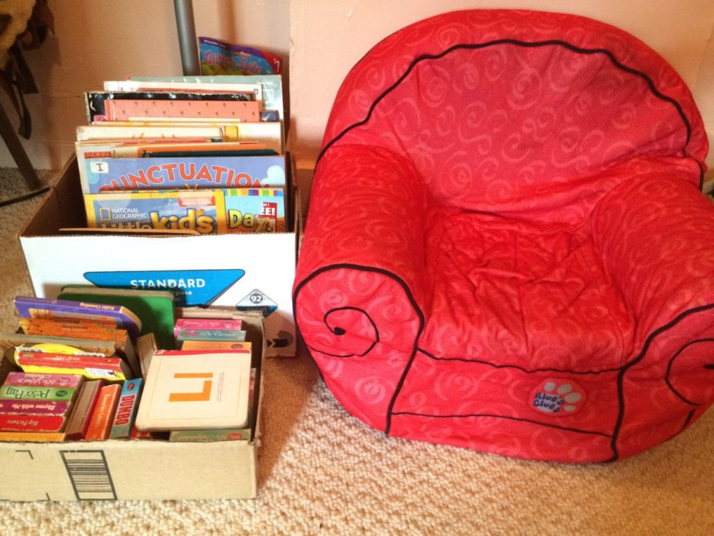 Little Chair and Boxes with Books