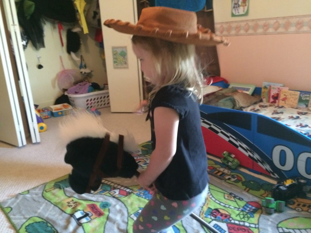 Ophelia is a Cowgirl!