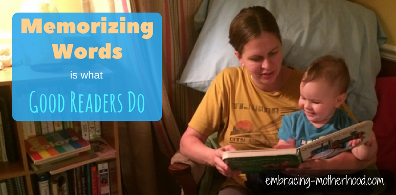 Memorizing Words is What Good Readers Do (Part 3 of a Teach Your Child to Read Series)