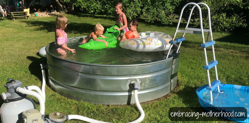 How to Make a Stock Tank Pool | Emcing Motherhood I Want To Put A Pool In My Backyard on