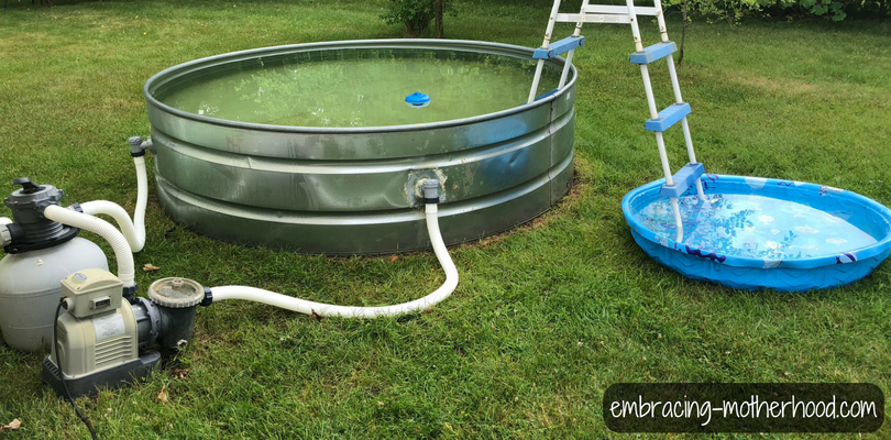 How to make a stock tank pool embracing motherhood - How to filter a stock tank swimming pool ...