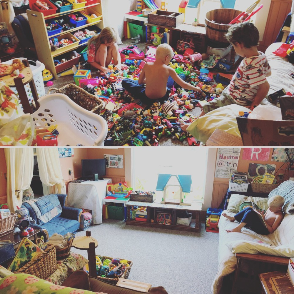 Before And After Messy Room With Filter